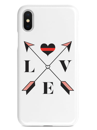 Love Arrow Cross - Thin Red Line - Firefighter Case