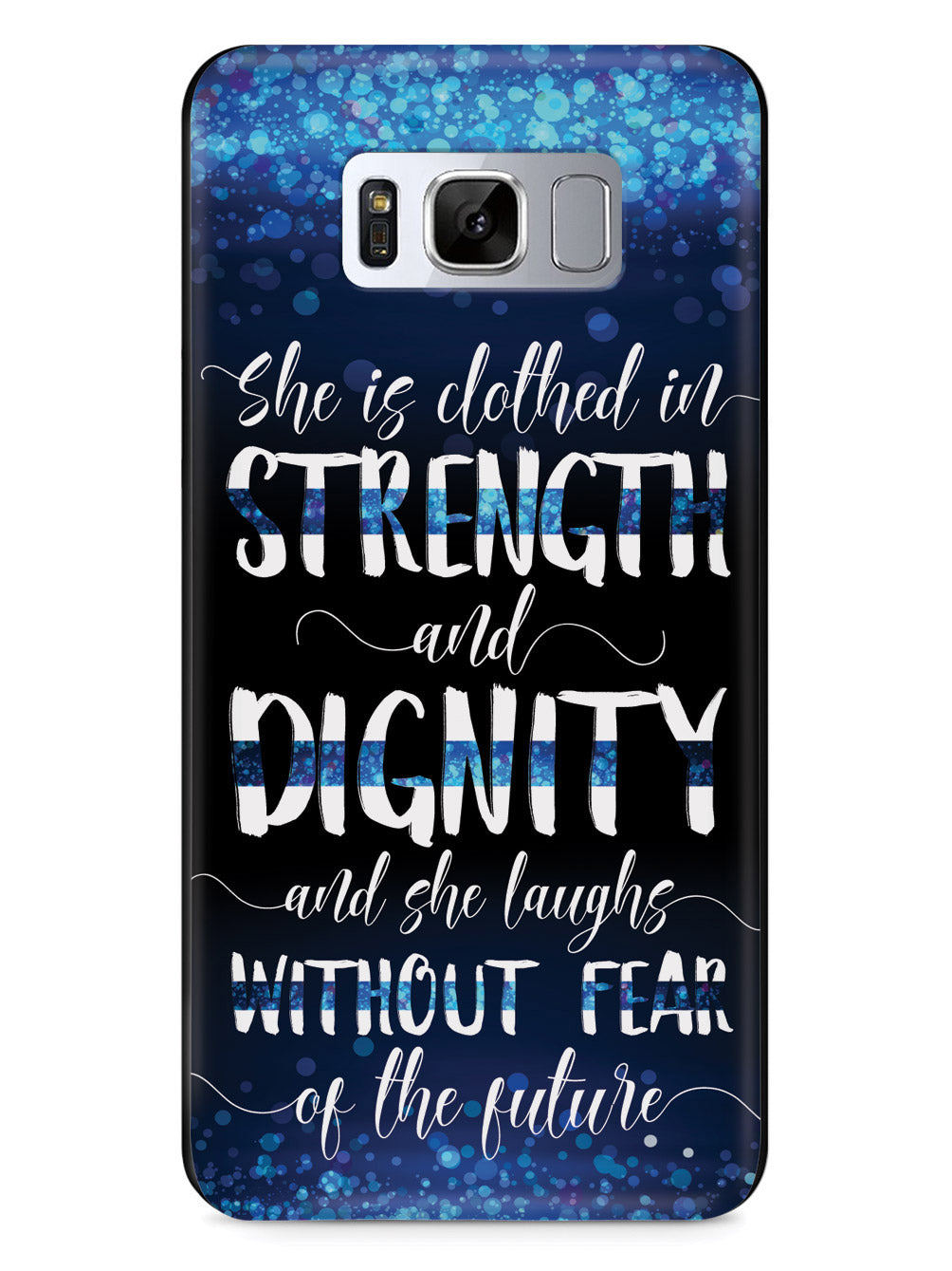 She Is Clothed in Strength and Dignity - Thin Blue Line Case