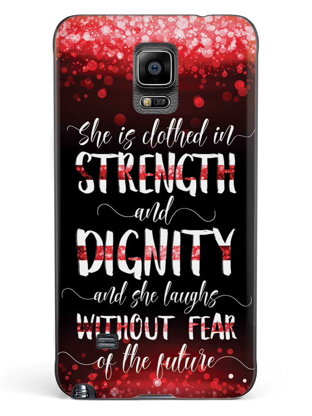 She Is Clothed in Strength and Dignity - Thin Red Line Case