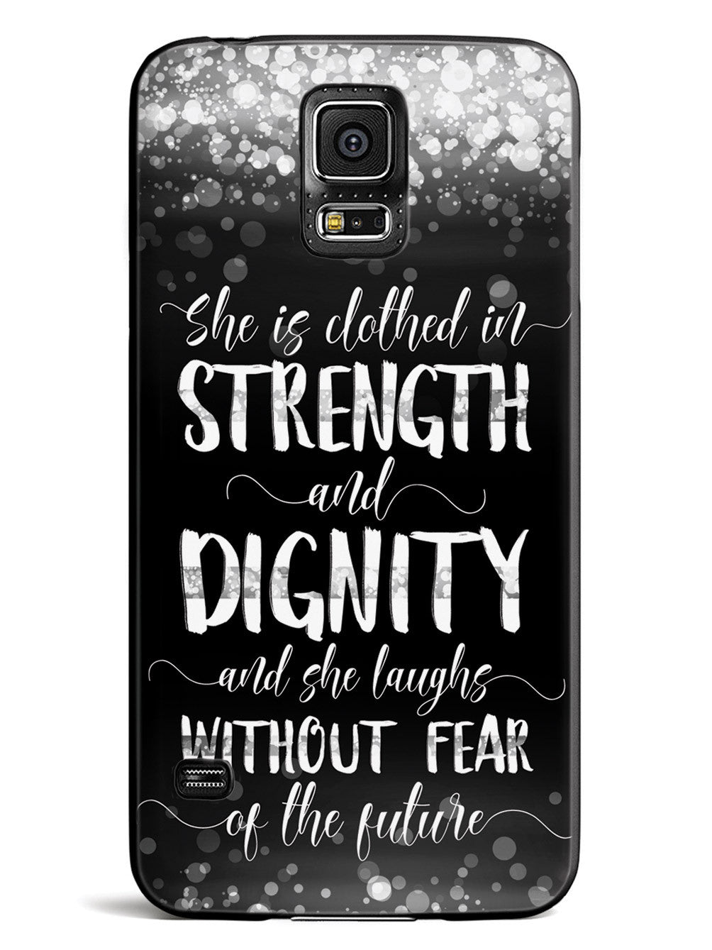 She Is Clothed in Strength and Dignity - Thin White Line Case
