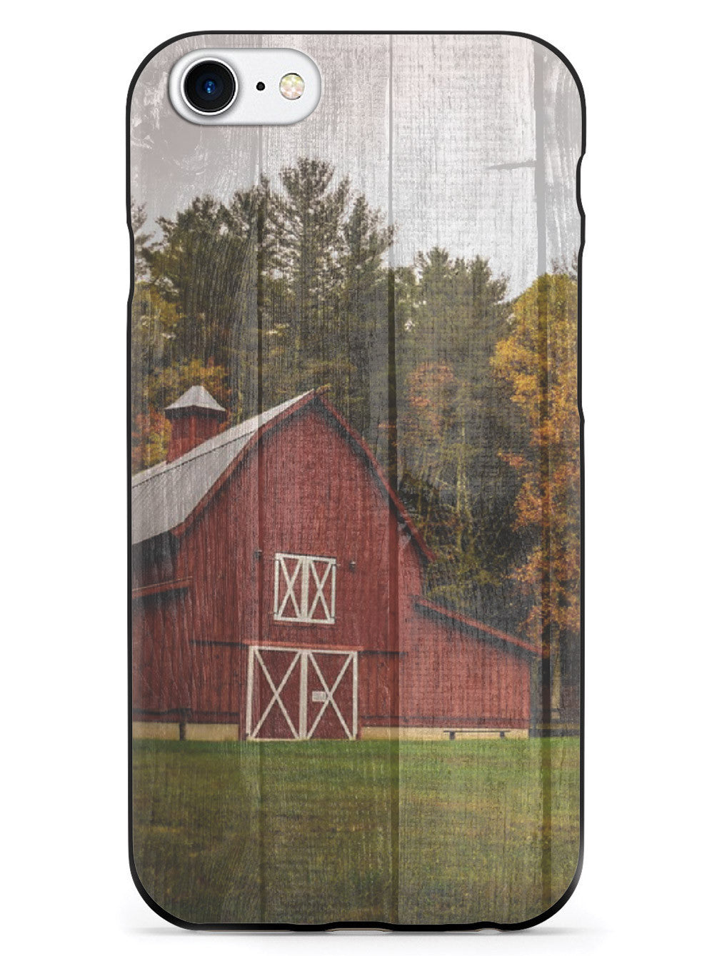 Textured Red Farm House Case
