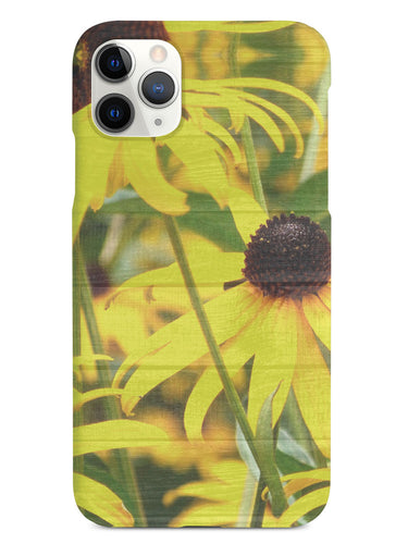 Textured Yellow Coneflowers Case