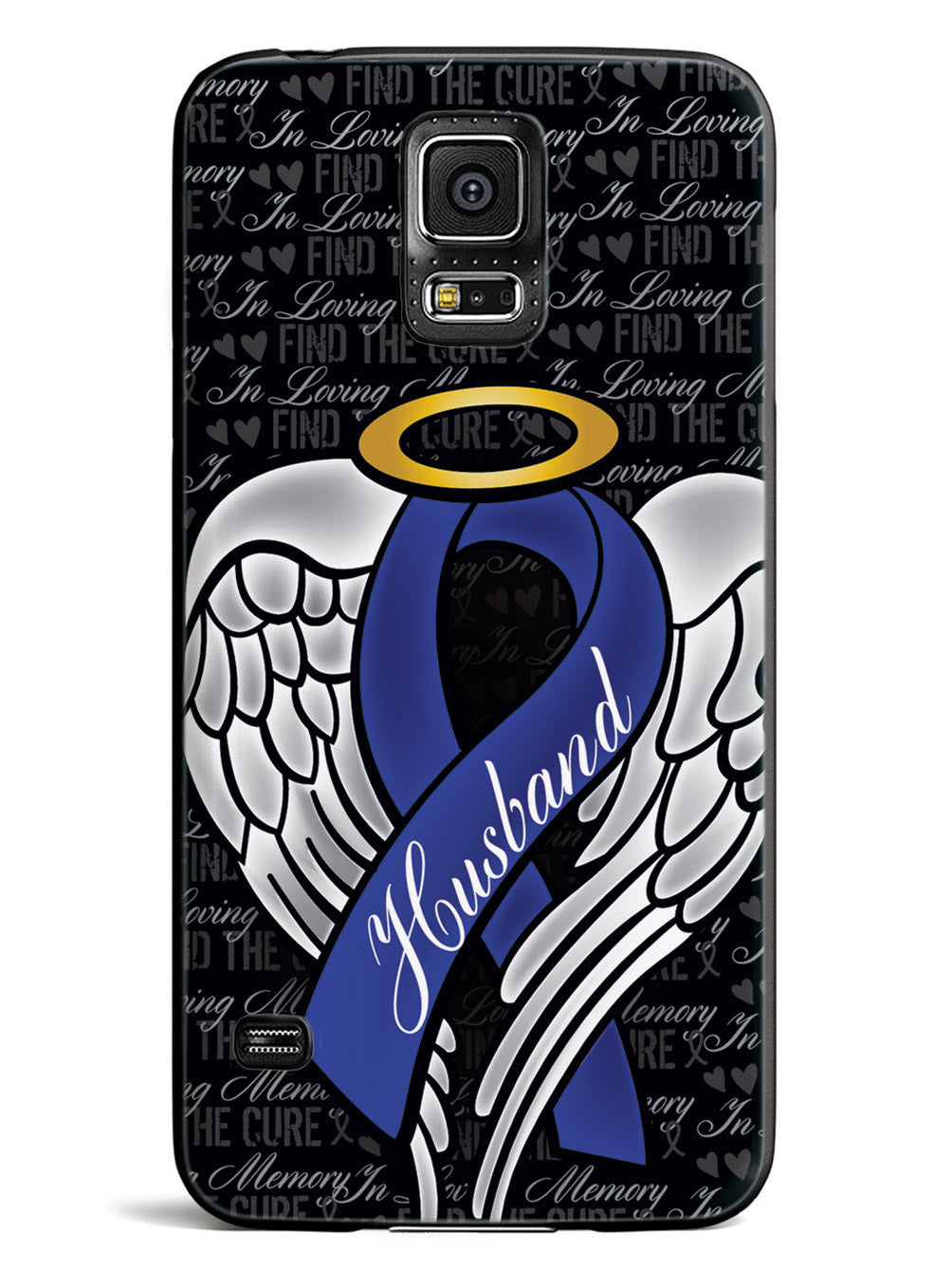 In Loving Memory of My Husband - Blue Ribbon Case
