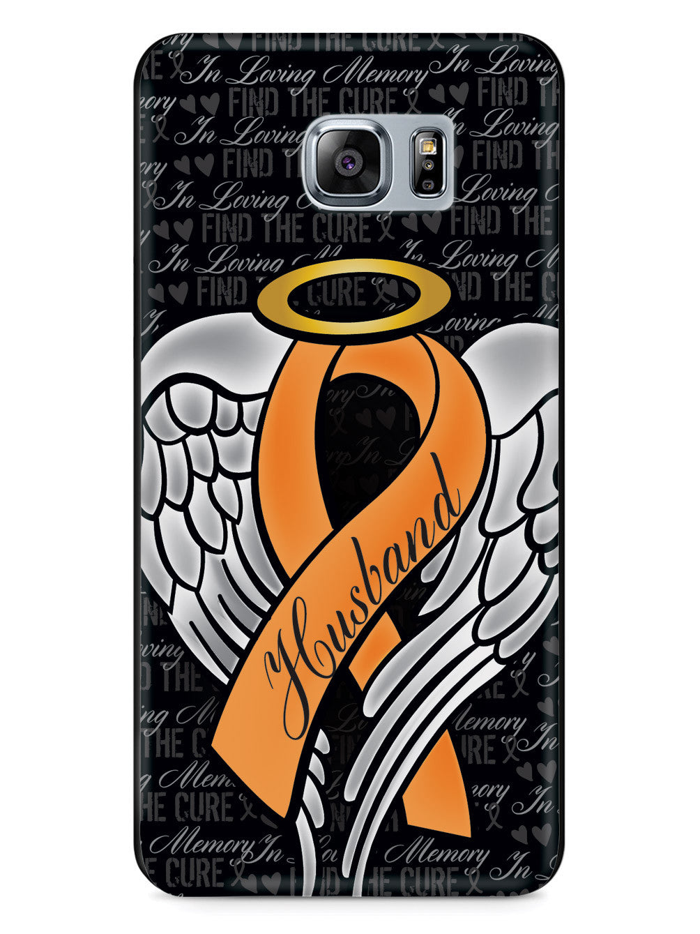 In Loving Memory of My Husband - Orange Ribbon Case