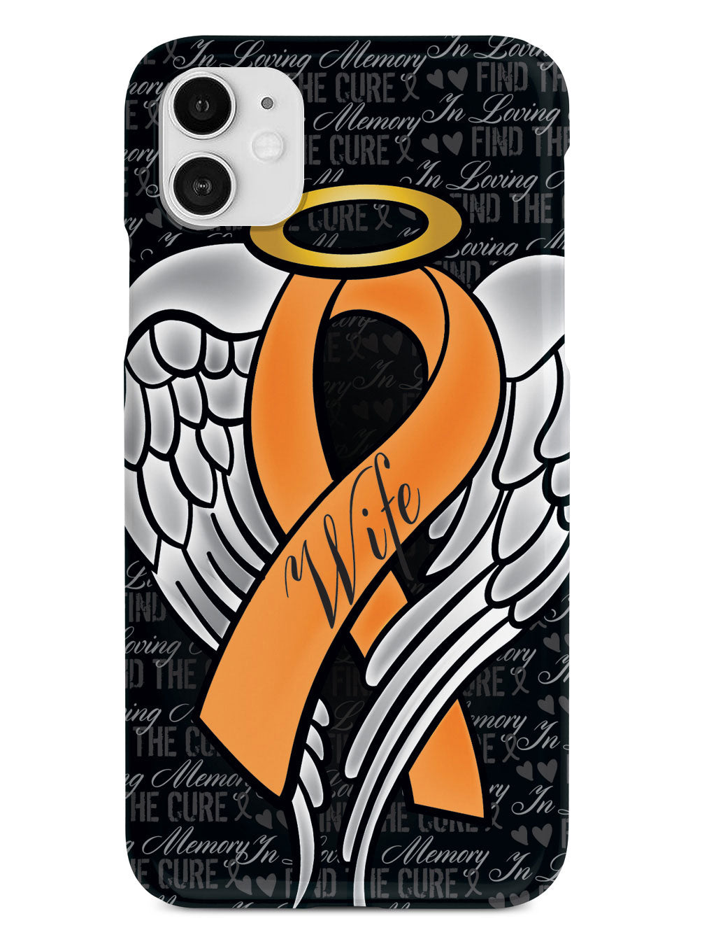 In Loving Memory of My Wife - Orange Ribbon Case