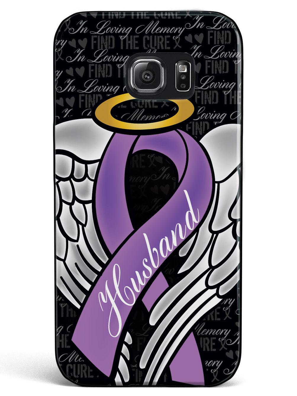 In Loving Memory of My Husband - Purple Ribbon Case