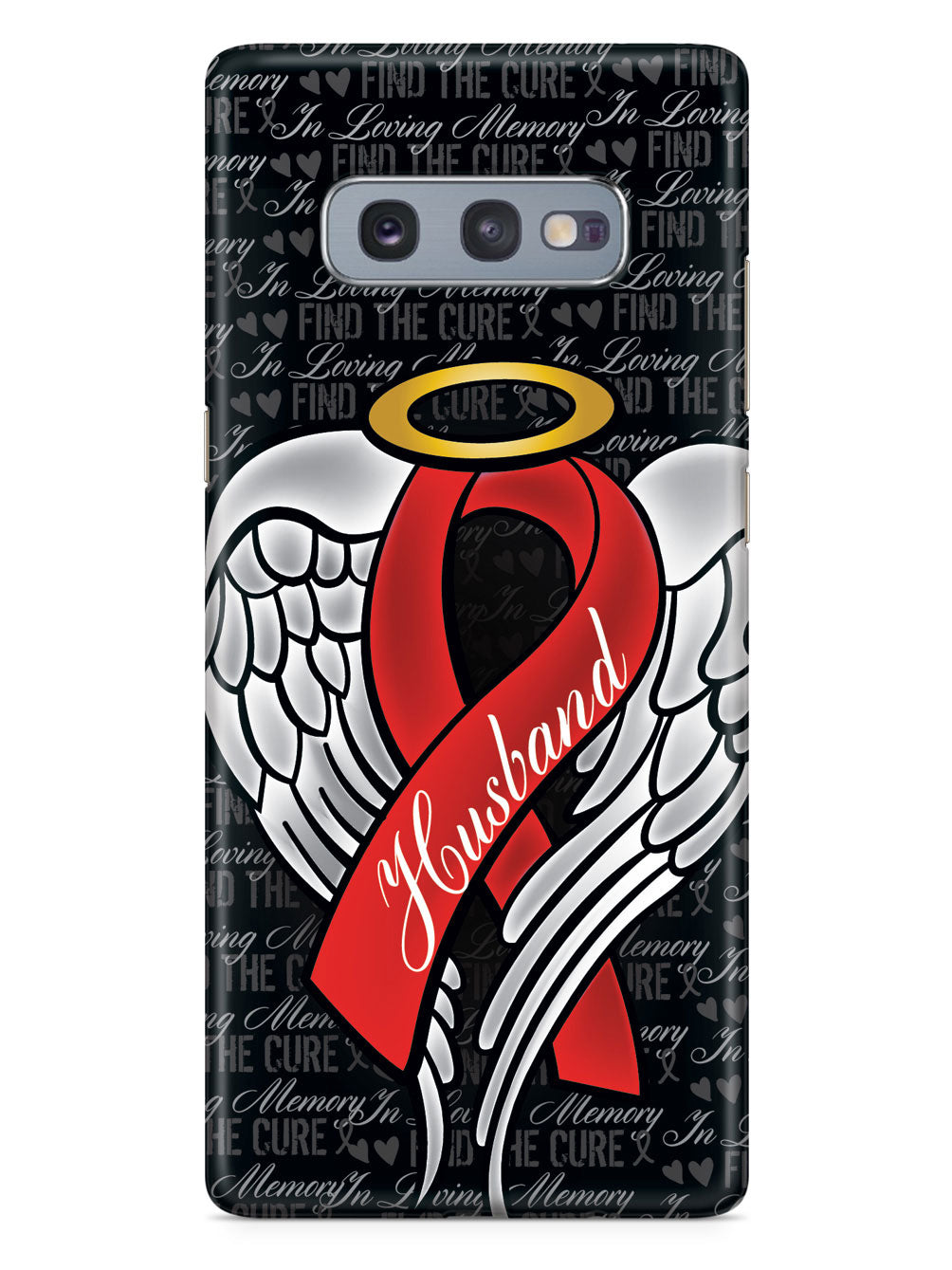 In Loving Memory of My Husband - Red Ribbon Case