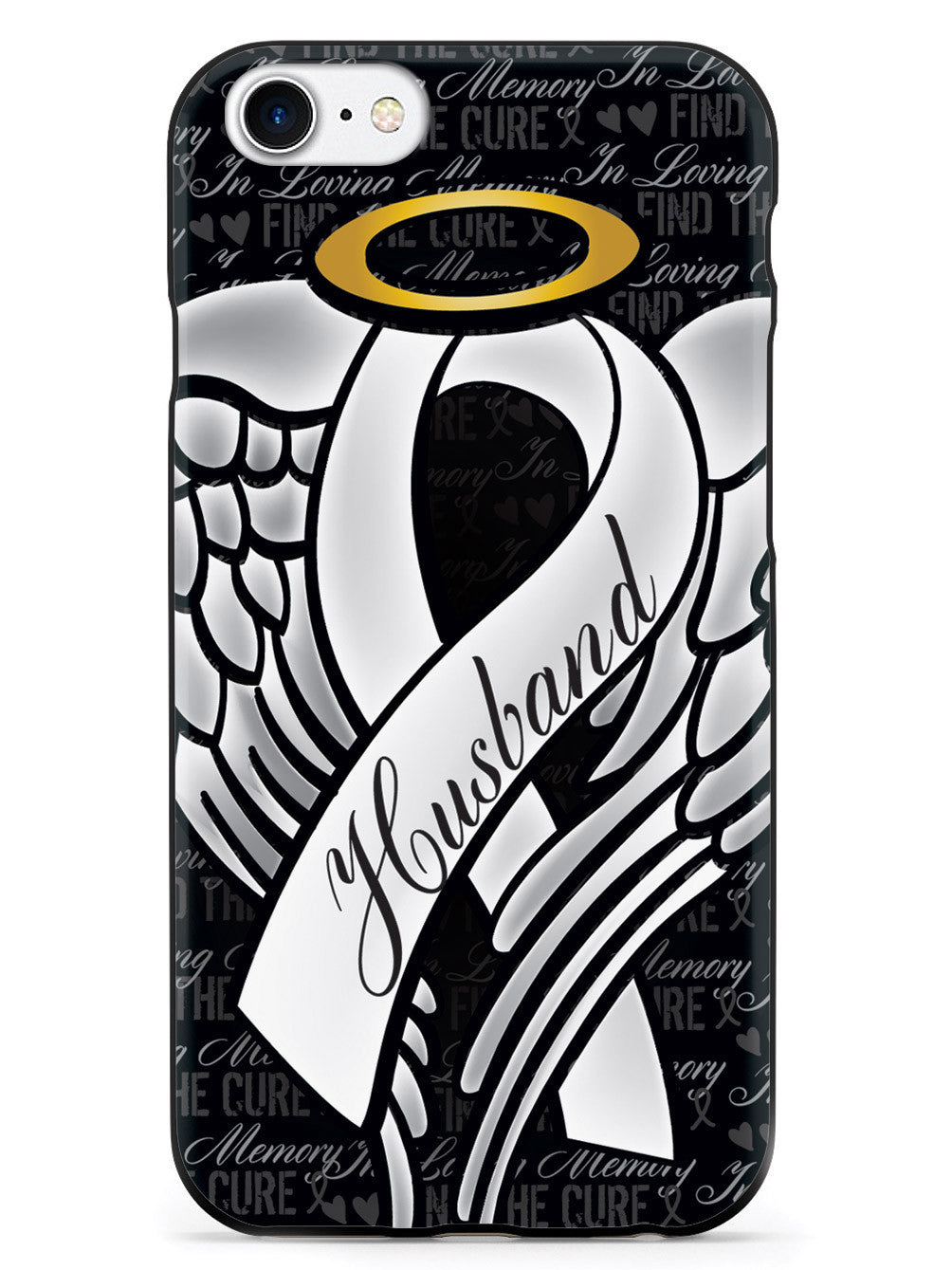 In Loving Memory of My Husband - White Ribbon Case