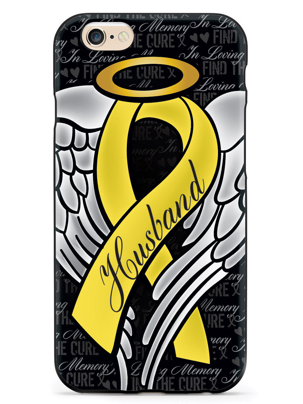 In Loving Memory of My Husband - Yellow Ribbon Case