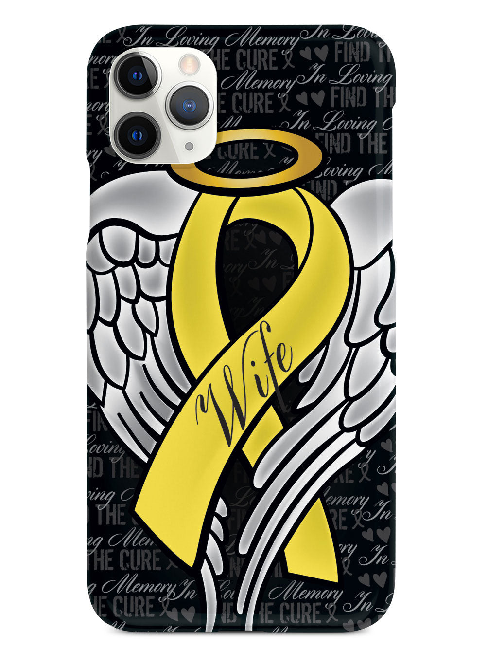 In Loving Memory of My Wife - Yellow Ribbon Case