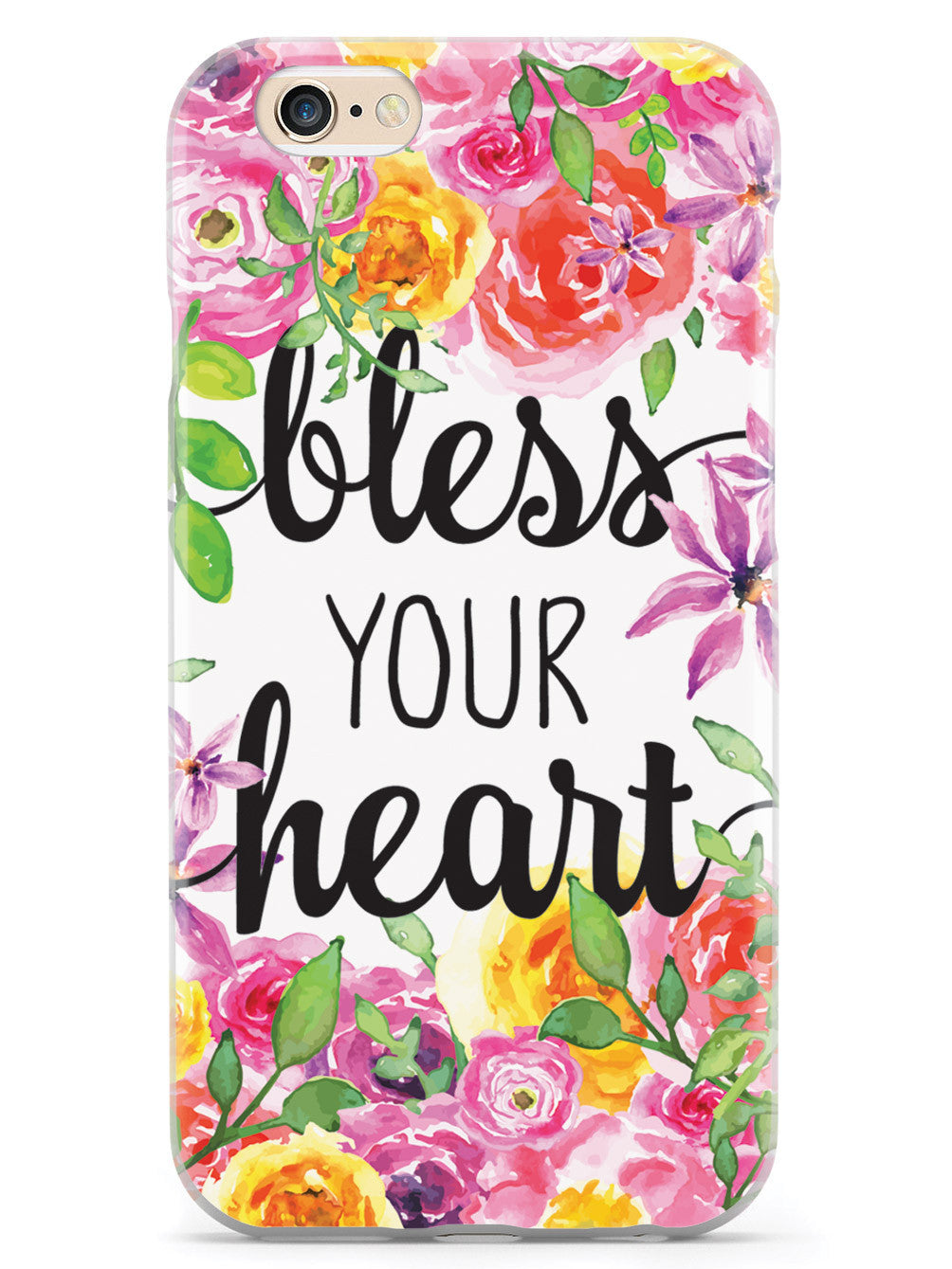 Bless Your Heart - Spring Watercolor Flowers Case