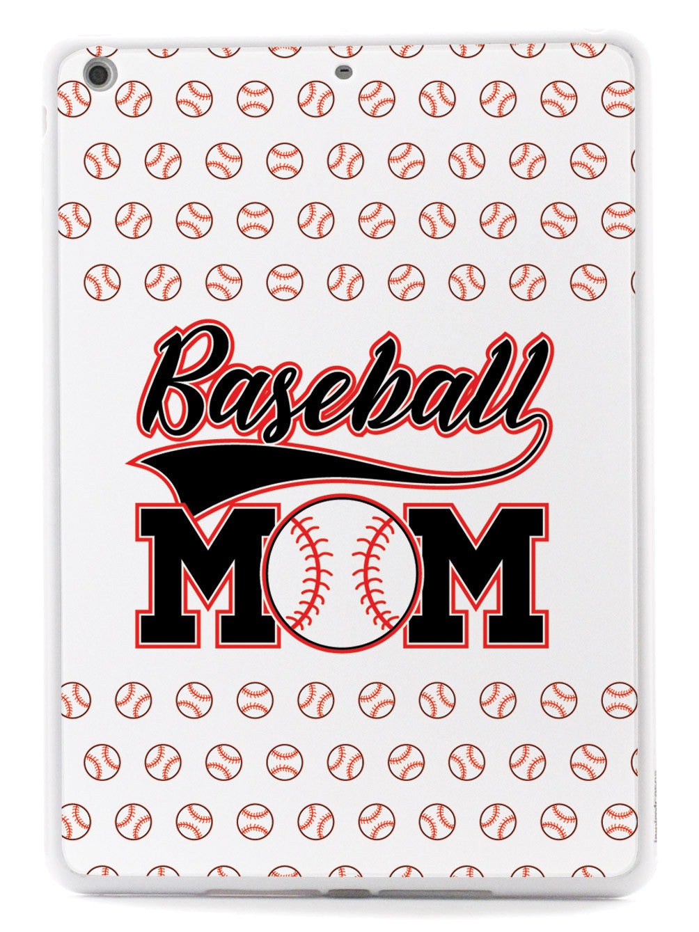 Baseball Mom - White Baseball Pattern Case