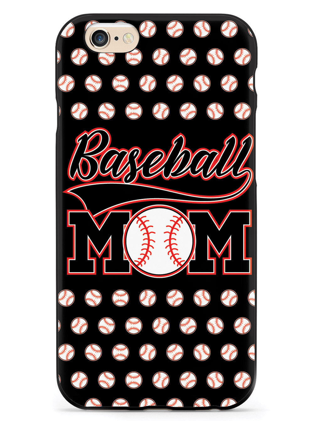 Baseball Mom - Black Baseball Pattern Case