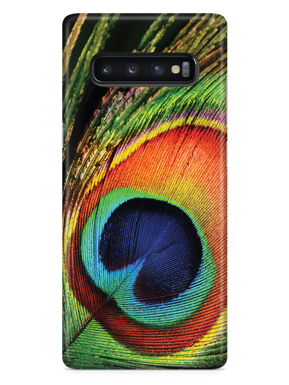 Textured Peacock Feather Case