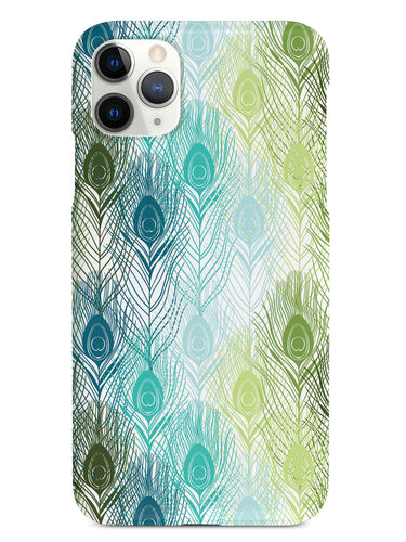 Peacock Feather Pattern - Green and Blue Case