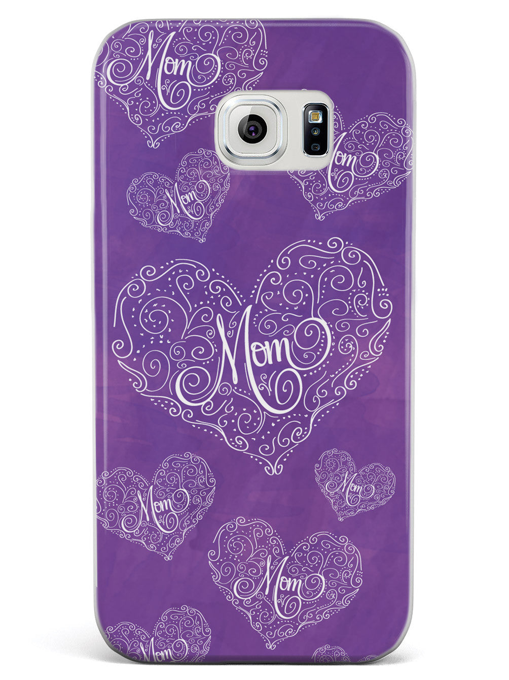 Mom Doodle Hearts - Purple Case