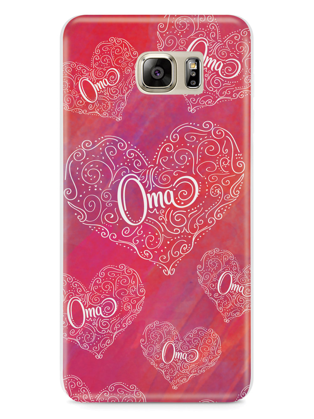 Oma Doodle Hearts - Pink Case