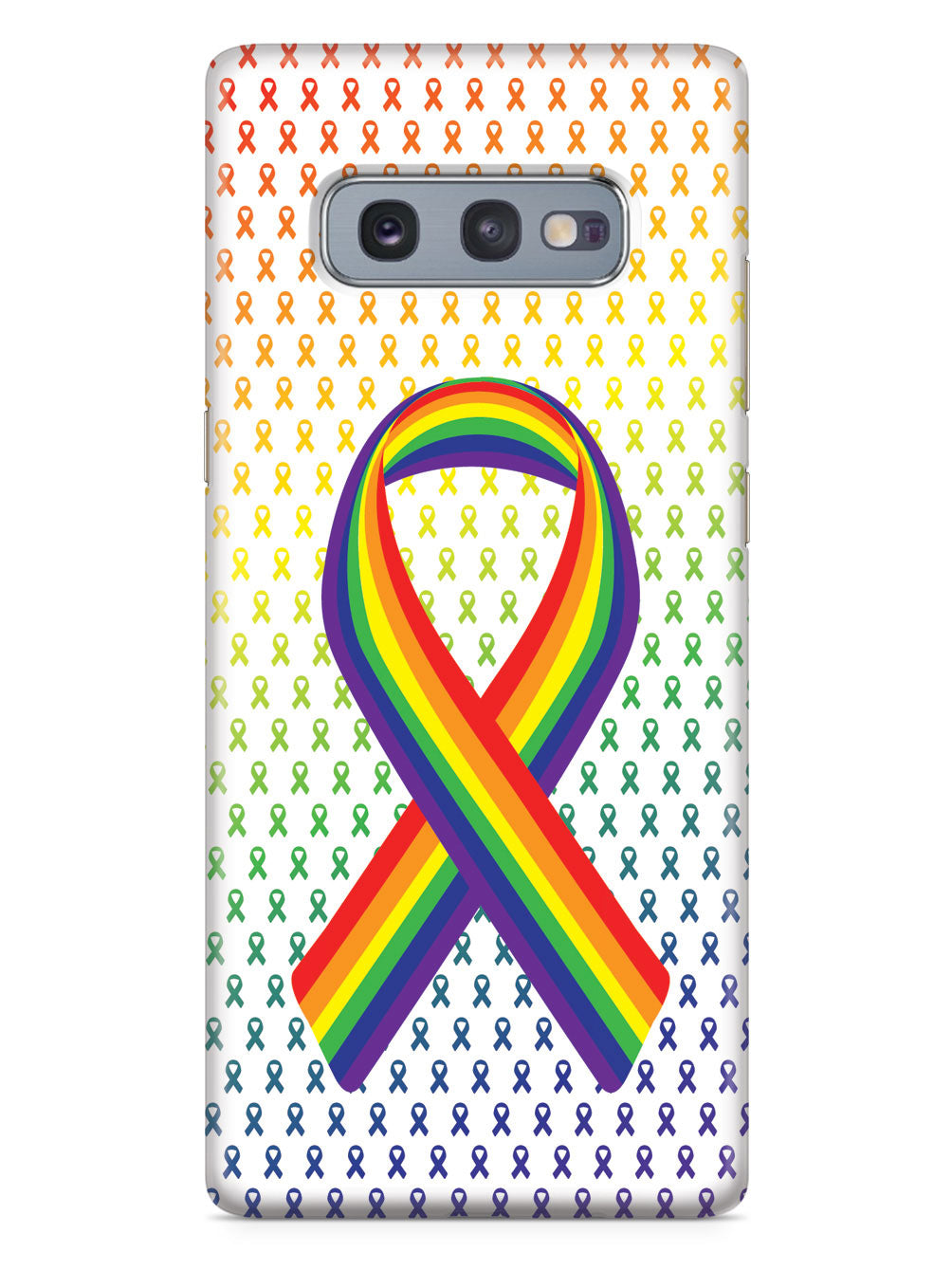 Rainbow Ribbon - LGBT Community Support - White Case