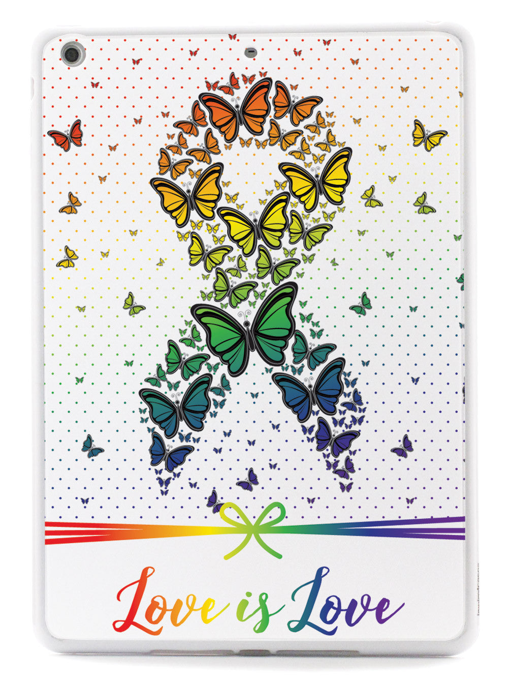 Love is Love - Rainbow Butterfly Ribbon Case