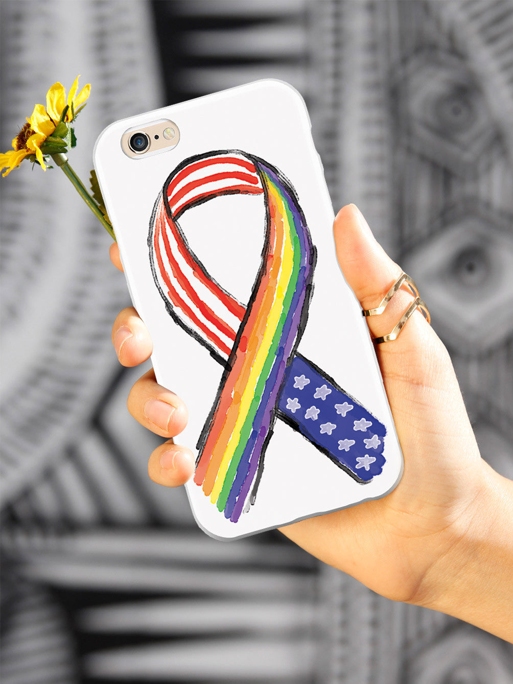 American Flag and LGBT Ribbon Case