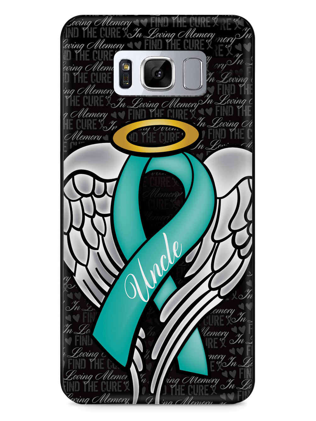 In Loving Memory of My Uncle - Teal Ribbon Case