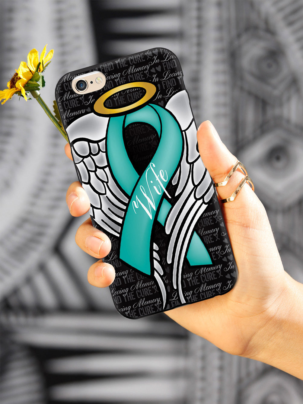 In Loving Memory of My Wife - Teal Ribbon Case