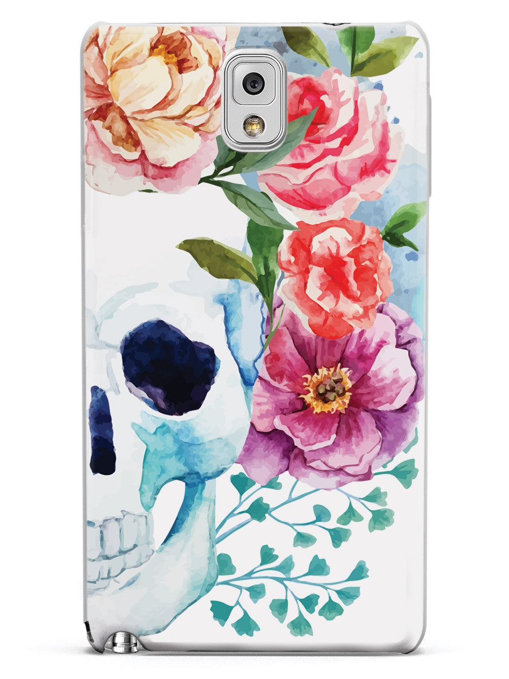 Watercolor Skull and Flowers Case
