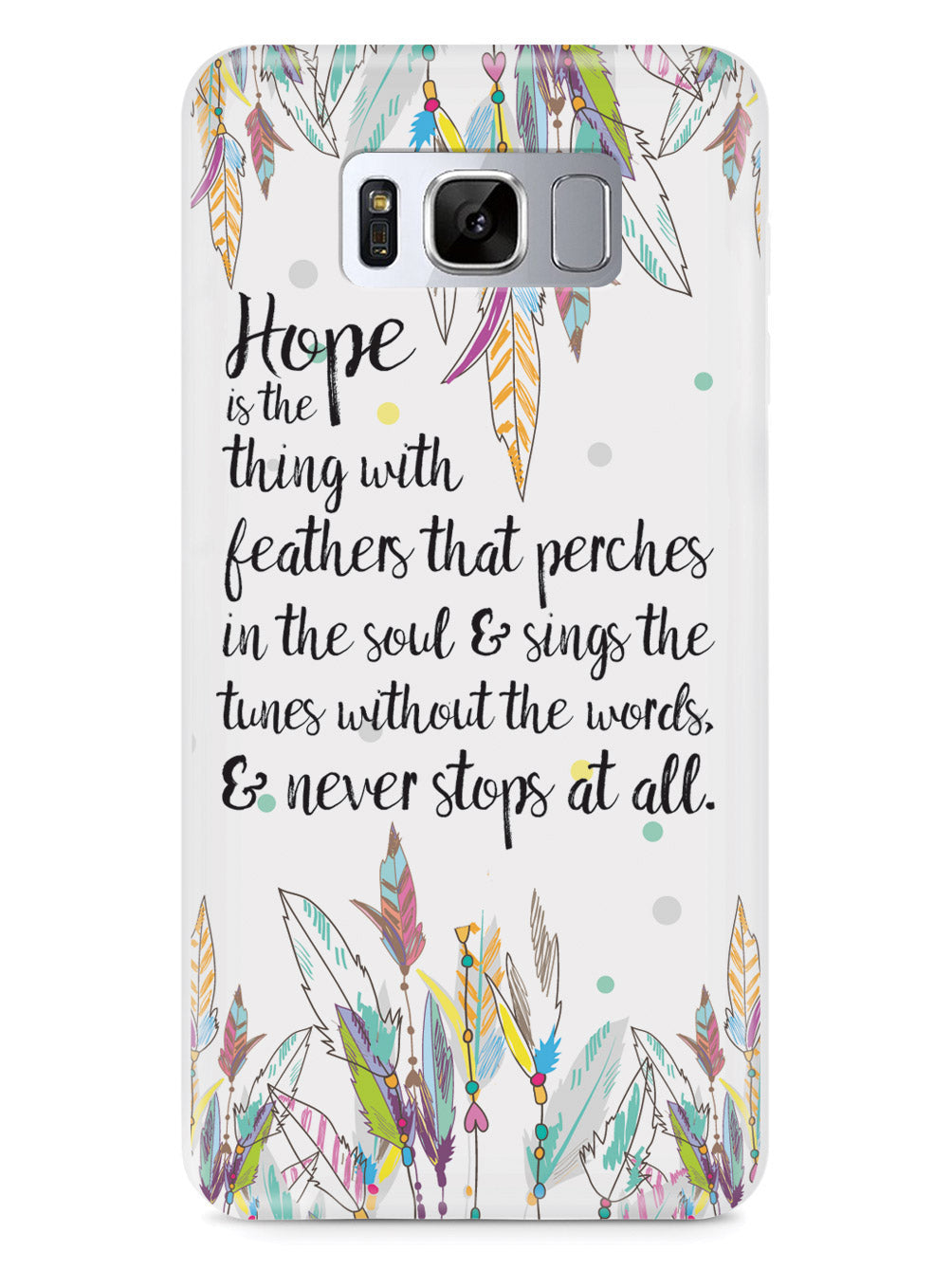 HOPE - Emily Dickinson Quote Case