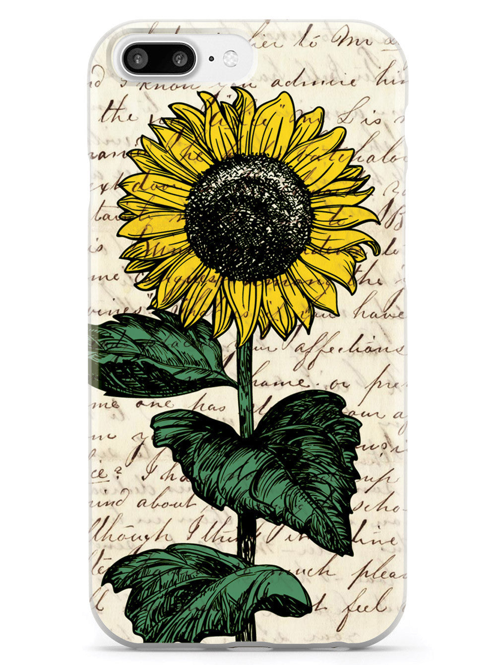 Sunflower Drawing - Vintage Letter Case