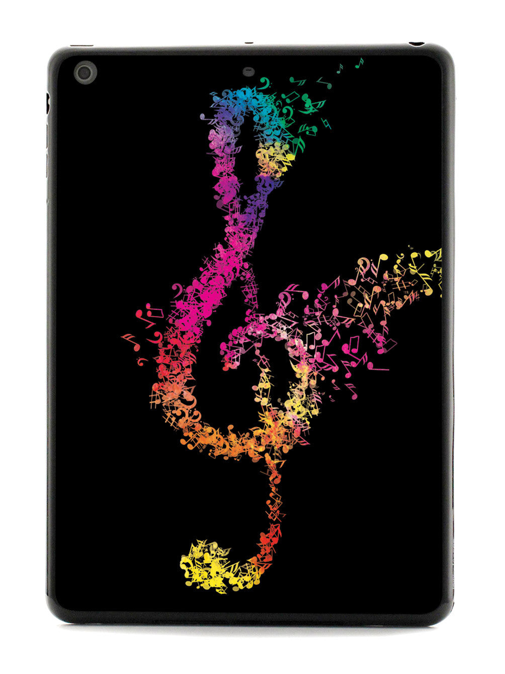 Rainbow Treble Clef - Black Case