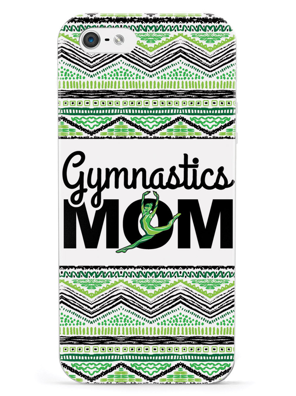 Green Gymnastics Mom - White Case