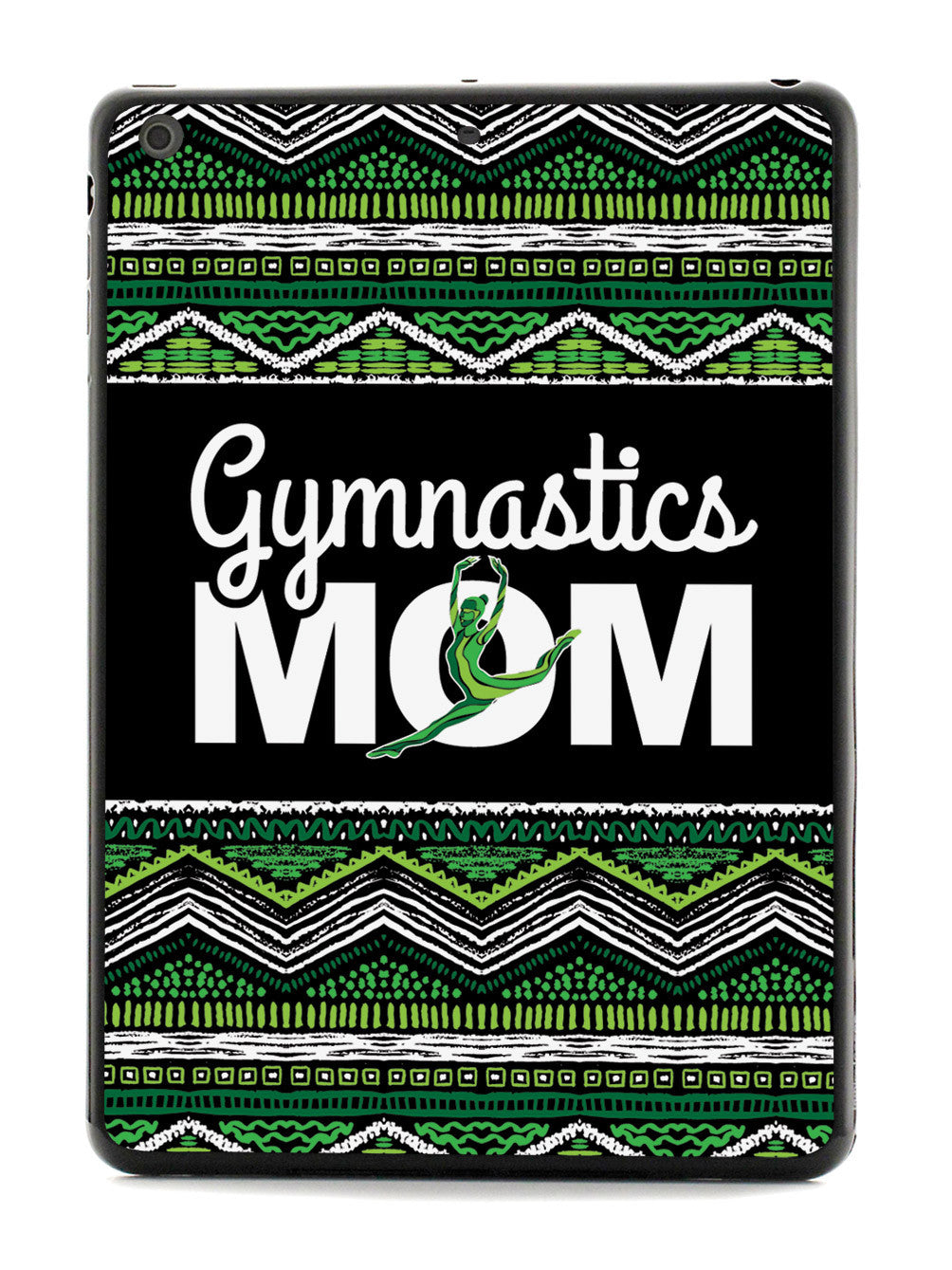Green Gymnastics Mom - Black Case