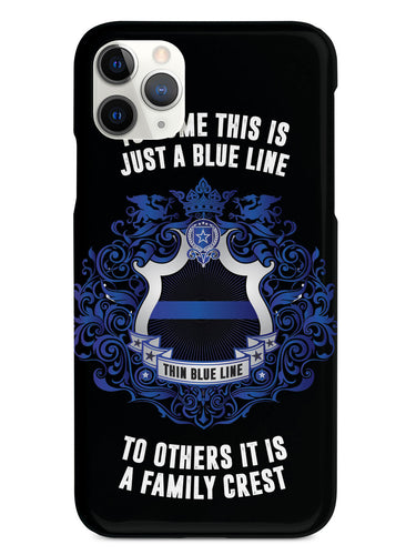 Thin Blue Line - A Family Crest Case