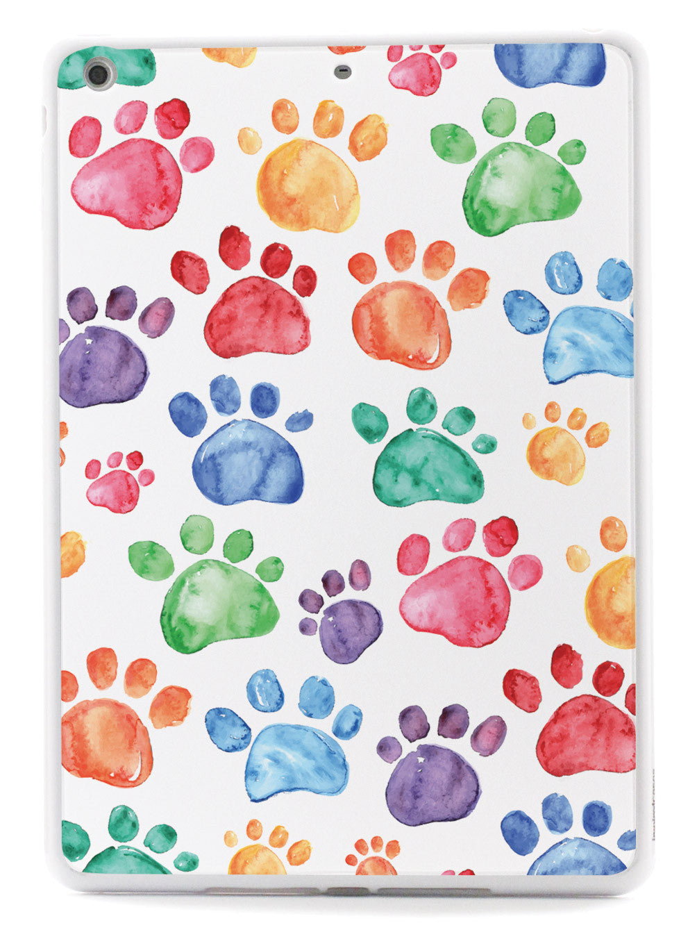 Watercolor Paw Prints Case