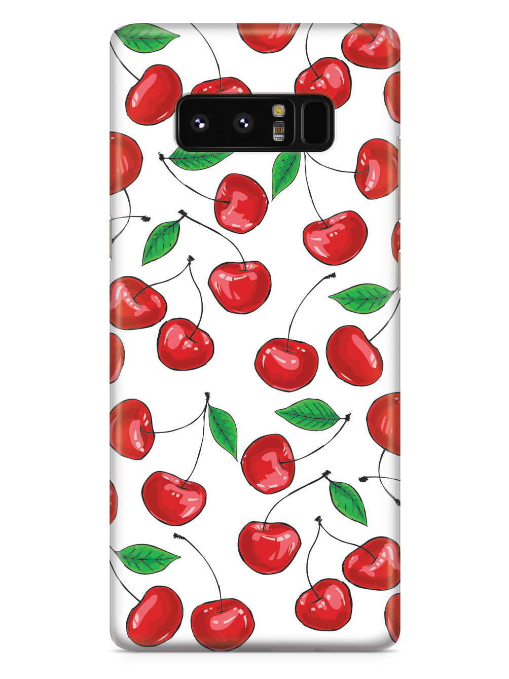 Cherry Pattern - White Case