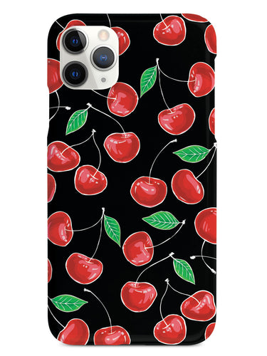 Cherry Pattern - Black Case