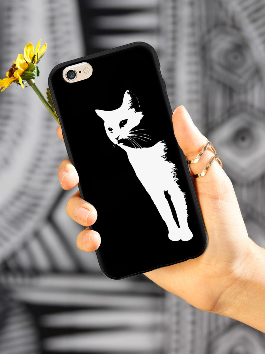 Dramatic White Cat Case