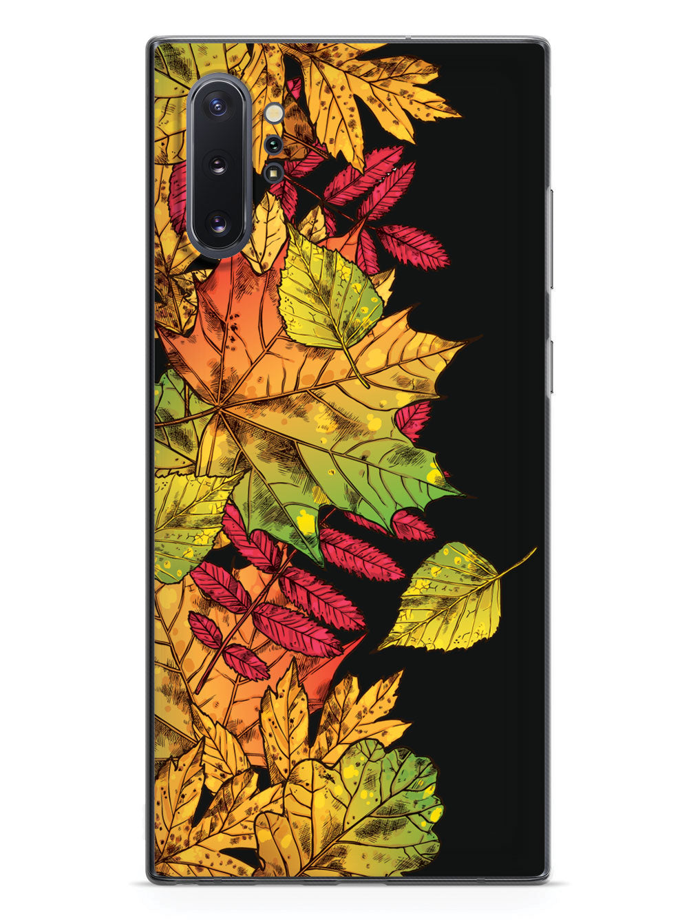 Autumn Leaves Illustration - Black Case