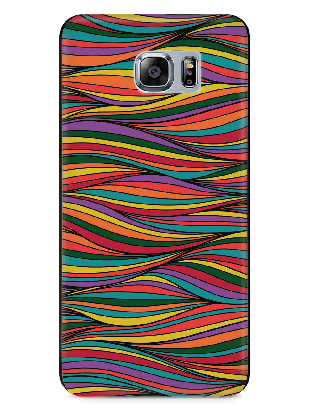 Colorful Waves Texture - Black Case
