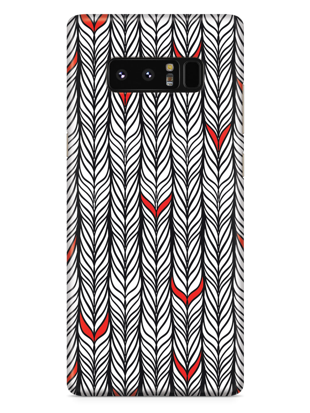 Braids Texture with Red Accents Case