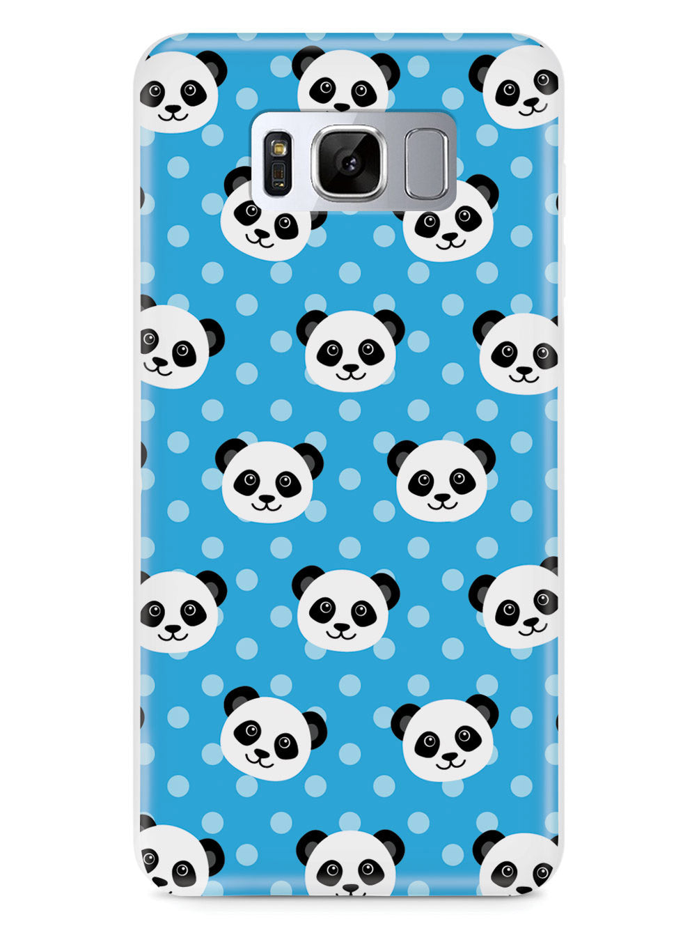 Cute Panda Pattern - Blue Polka Dots Case