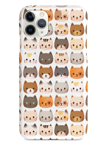 Tiny Cat Faces Pattern - White Case
