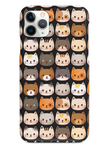 Tiny Cat Faces Pattern - Black Case