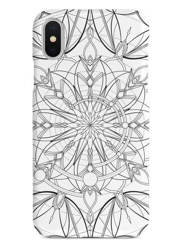 Intricate Mandala Line Art - White Case