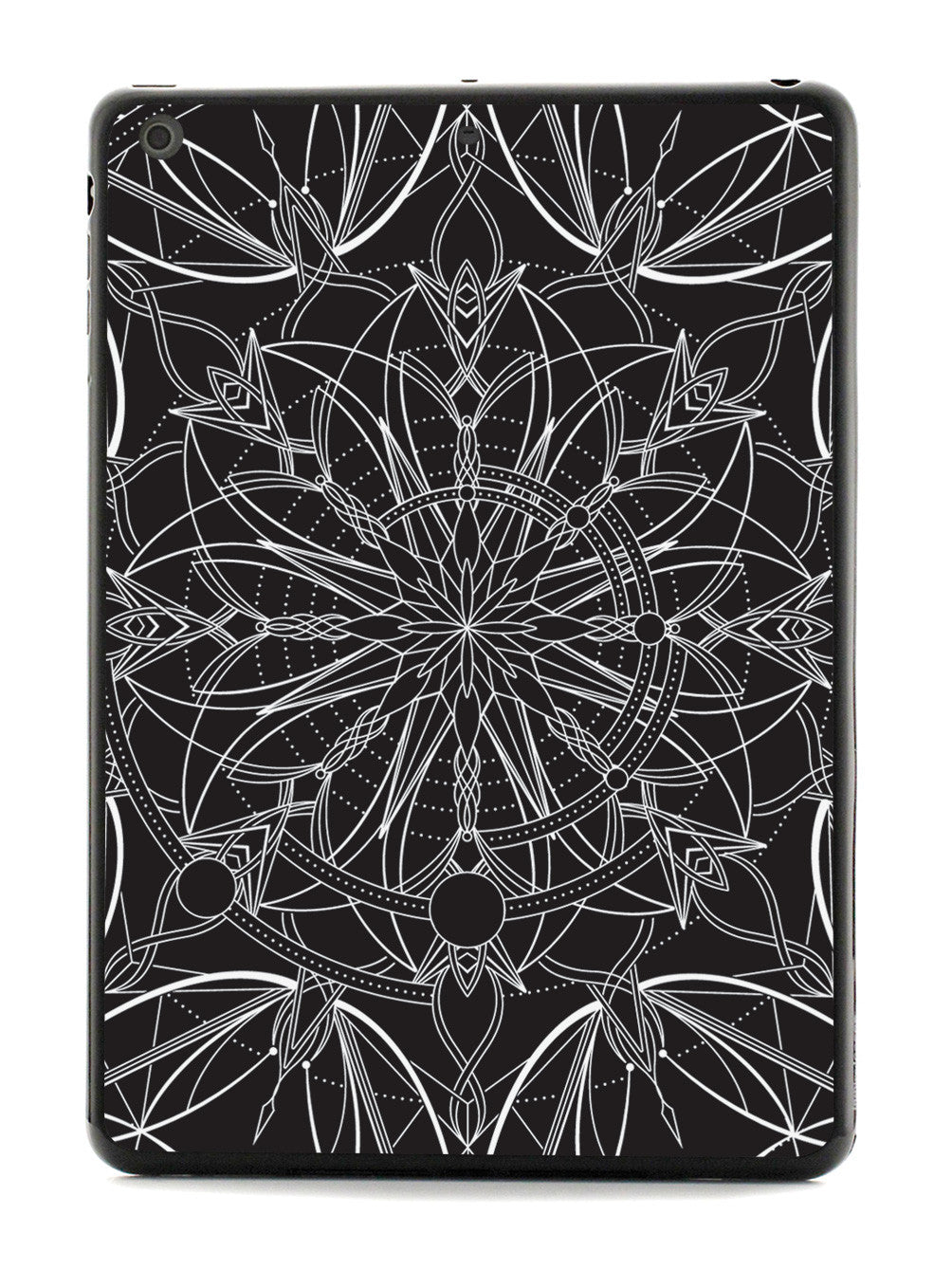 Intricate Mandala Line Art - Black Case