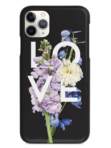 Love and Purple Flowers - Black Case
