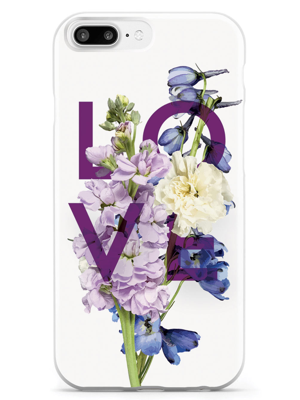 Love and Purple Flowers - White Case