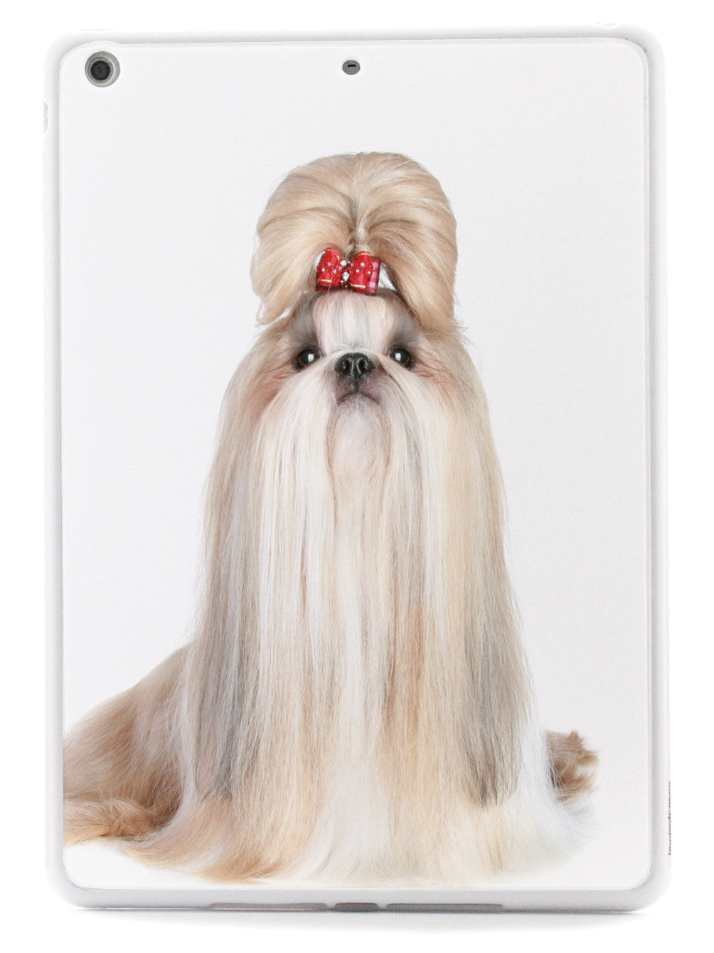 Long-Haired Shih Tzu With Bow Case