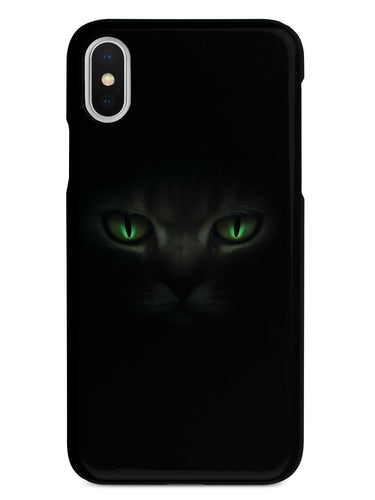 Black Cat with Green Eyes Case