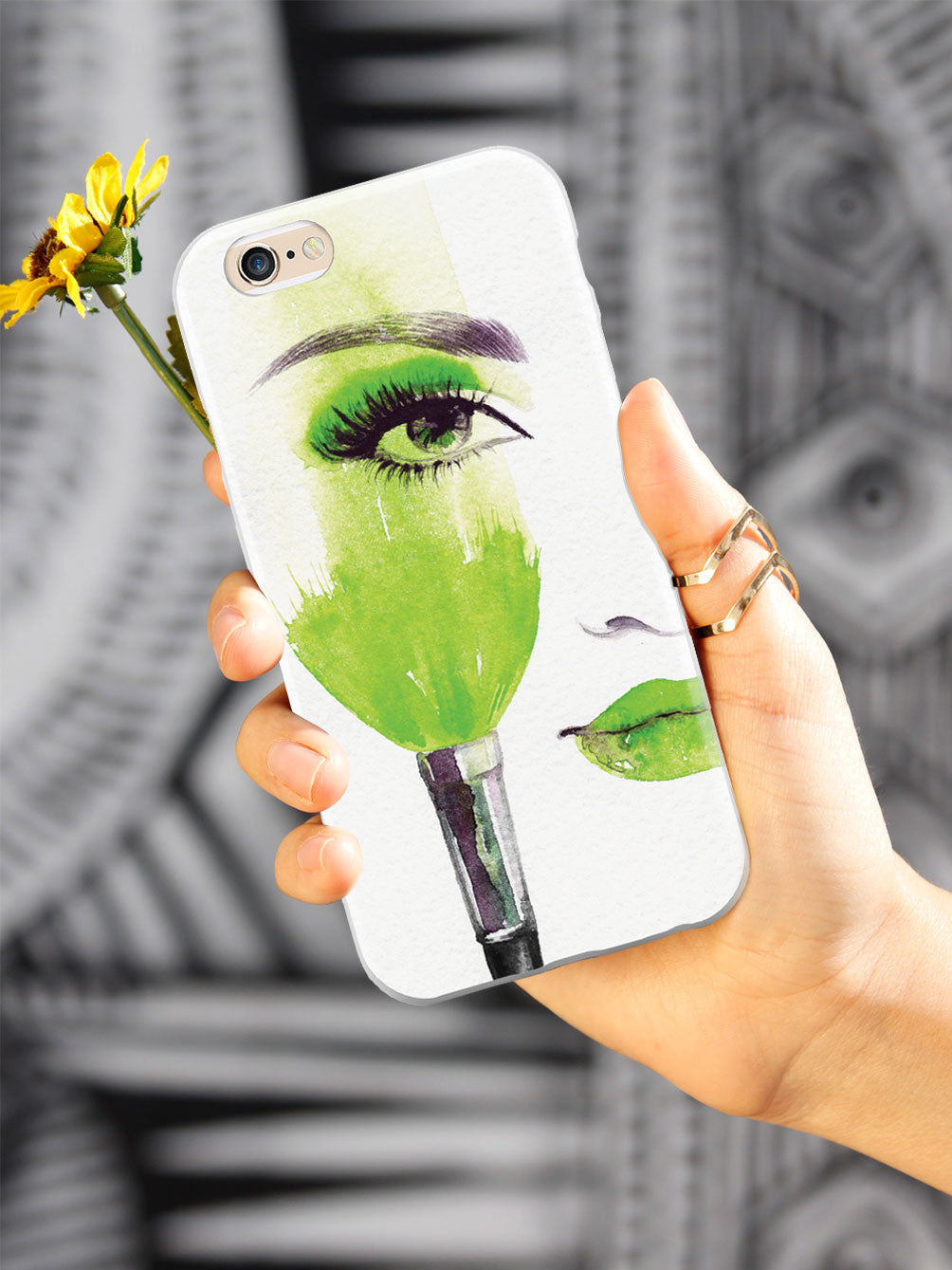 The Girl With The Colored Makeup - Green Case